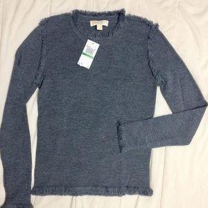 "Michael Kors merino wool fringed ""Derby"" pullover"